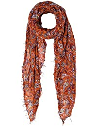 Cashmere & Silk Scarf in Dancing Fall Paisley Autumnal