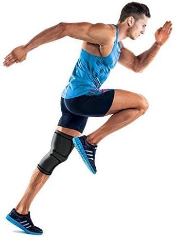 Ducomi KneeX Kniebandage, Kompressionsbandage für Bänder, Meniskus, Kreuzer, 1 Paar | Elastische Kniebandage für Herren, Damen | Ideal für Volleyball, Basketball und Crossfit S schwarz