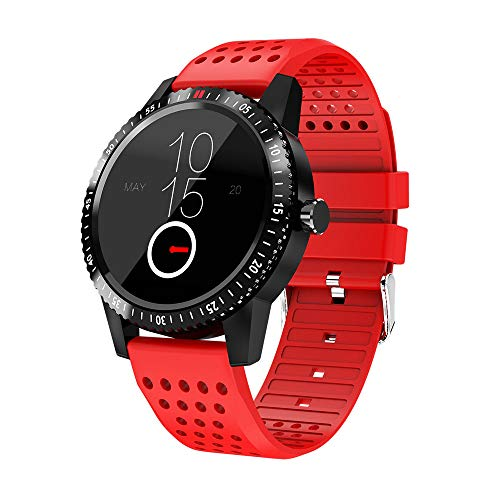 Price comparison product image Aobiny Smart Fitness Tracker, Waterproof Smart Watch Blood Pressure Heart Rate Sleep Pedometer Camera Remote Shoot Blood Oxygen Monitor Smart Wristband iOS Android (Red)