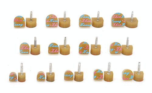 Medigy 13 pairs Heel Tips Taps Kit High heel Shoes Repair Caps Shoes Replacement Dowels, U-Shaped, Khaki ()