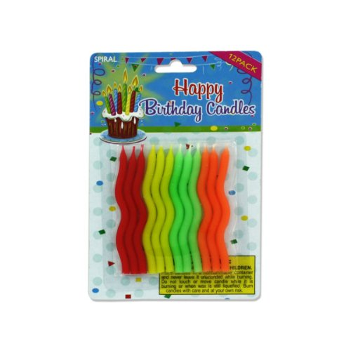 Spiral birthday candles, Case of 108 by bulk buys (Image #1)