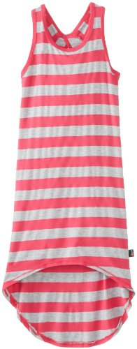 T 2 Love Big Girls' Stripe Hilo Tank Dress, Hot Pink, 12
