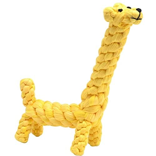 BINGPET Upgrade Dog Cotton Cloth Toy Puppy Pet Tough Chew Giraffe Toys for Small Dogs Biting
