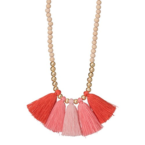 Occasionally Made Ombre Fan Necklace, Coral