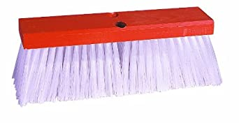 "Weiler 70211 16"" Block Size, Orange Block Fill, Hardwood Block, Street Broom"