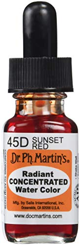 Dr. Ph. Martin's Radiant Concentrated Water Color, 0.5 oz, Sunset Red ()