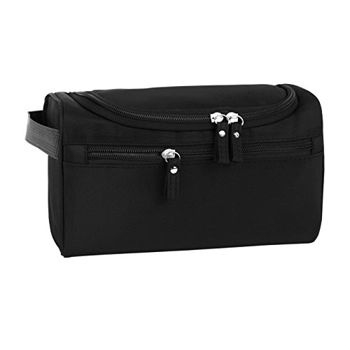Hanging Travel Toiletry Bag Cosmetic Bag for Men & Women Travel Organizer Bag for Accessories Toiletries Shaving & Makeup(Black)