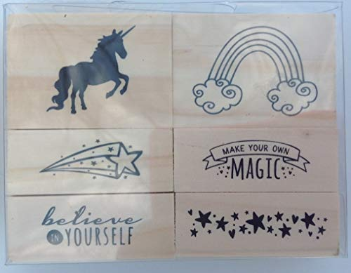 Make You Own Magic Wood Mounted Rubber Stamp Set of 6 ()