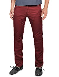 Men's Straight-Fit Flat-Front Casual Pants