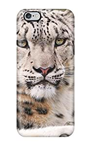 Durable Defender Case For Iphone 6 Plus Tpu Cover(white Snow Leopard)