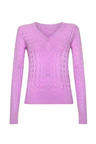 Maglione Collection Donna Scottish Lunghe Maniche Purple Rpwqv7