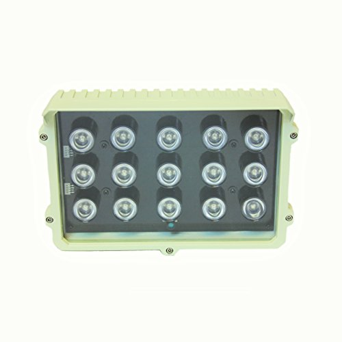 CMVision-CMVE-IR15-Wide-Angle-60-80-Power-LED-IR-Array-Illuminator-200-300-Long-Range-with-Free-12VDC-3A-Power-Adaptor-15-Piece