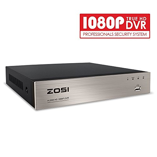 ZOSI 8CH Full 1080P Hybrid 4-in-1 HD TVI DVR Video Recorder CCTV Network Motion Detection for Surveillance Security Camera System Real Time Recording Mobile Phone Monitoring (Certified Refurbished) by ZOSI
