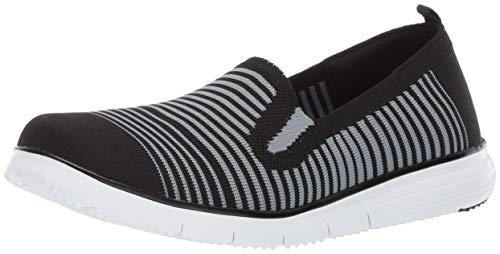 (Propet Women's Travel Fit Slipon Sneaker, Black/Grey, 8.5 4E US)