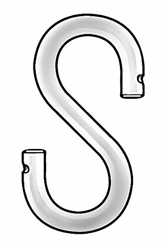 1'' x 17/32'' Steel S Hook with 16 lb. Working Load Limit; PK50 - pack of 5