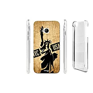 FUNDA CARCASA EFECTO MADERA NEW YORK CITTA' PARA HTC ONE M7