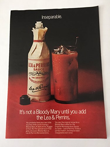 1979 Lea & Perrins Bloody Mary Magazine Print Advertisement