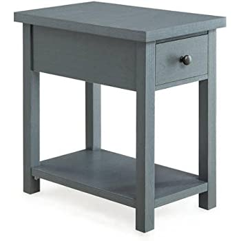 Amazon Com Blue End Table With Drawer Better Homes And