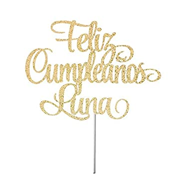 Feliz Cumpleaños Cake Topper, Custom Happy Birthday, Spanish ...
