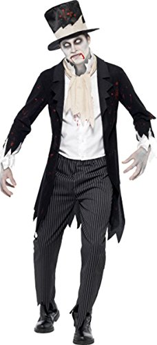 Till Death Do Us Part Zombie Groom Costume Medium - Till Death Do Us Part Costume