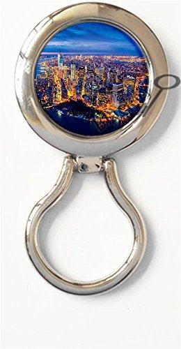 BlackKey Manhattan Places New York City Scenery Magnetic Metal Eyeglass Badge Holder, Eye Glass Holding Brooch - Eyeglasses Manhattan