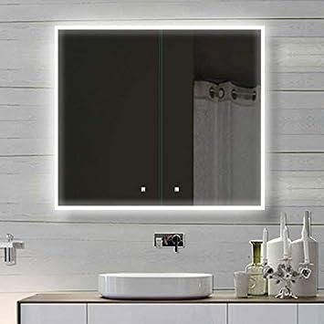 Beleuchtung Für Spiegelschrank   Weiss Alu Led Beleuchtung Badschrank Badezimmerschrank Spiegelschrank