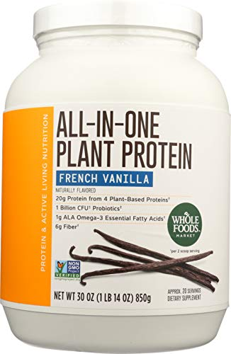 Whole Foods Market, All-In-One Plant Protein, French Vanilla, 30 oz