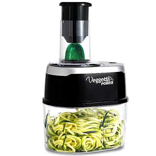ONTEL Veggetti Power 4-in-1 Electric Spiralizer Turn Veggies Into Healthy Delicious Meals As Seen on TV (Veggie Pasta Maker As Seen On Tv)
