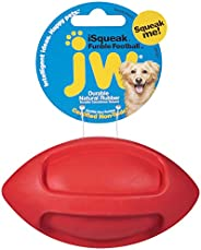 JW Pet Company iSqueak Funble Football Dog Toy, Small, Colors Vary