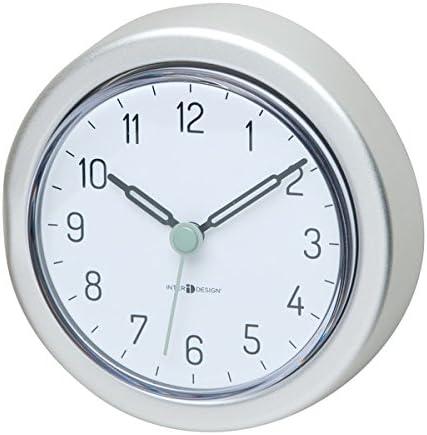 praktisches Duschzubeh/ör aus Aluminium mDesign Badezimmer Uhr mit Saugnapf wasserfeste Duschuhr zum einfachen Befestigen an Duschwand oder Fliesen