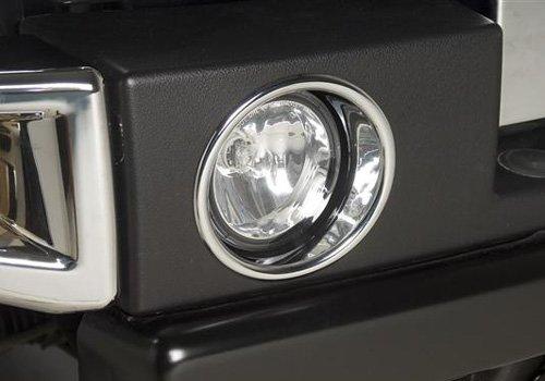 Hummer H3 Fog Lamp Covers/Trim Fits 2006-10 (Rims H3 Chrome Hummer)