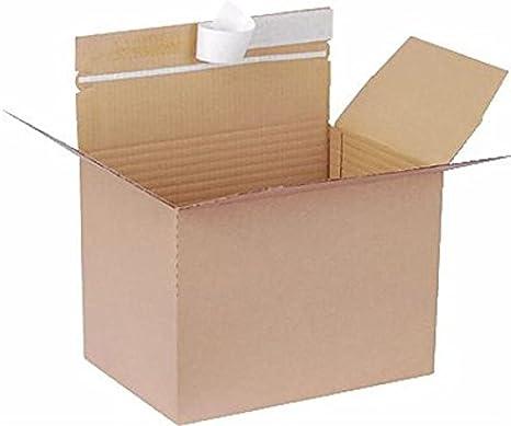 Smartbox - Lote de 20 cajas de cartón (304 x 216 x 130-220 mm), color marrón
