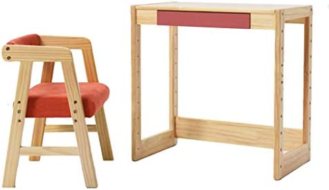 Juegos de mesas y sillas Mesa de estudio y silla mesa de madera maciza mesa de estudio para el estudiante en casa y juego de sillas mesa de jardín de infantes y