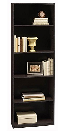 5-Shelf Bookcase in Black Forest Finish