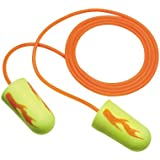3M E-A-Rsoft Yellow Neon Blasts Corded Earplugs, Hearing Conservation 311-1257 in Poly Bag Regular Size (Pack of 100)