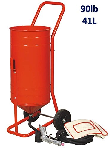 Mobile Sand Blaster on Wheels 90 lb 41L autre