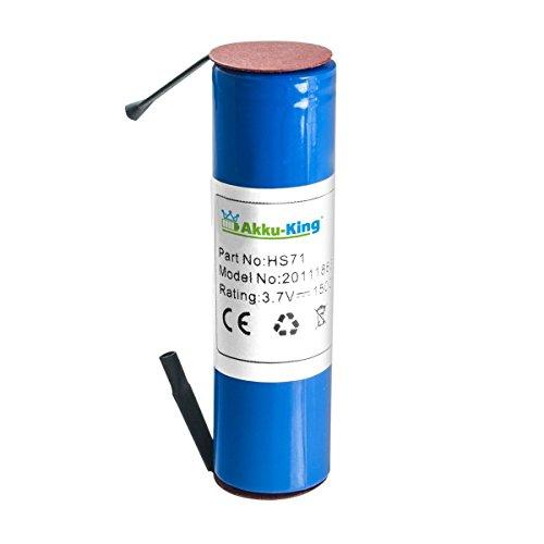 Akku kompatibel zu Bosch IXO, ISO, XEO, Heißklebepistole, Gardena 885-20, Mannesmann M17730 - ersetzt IXO, Isio - Li-Ion 1500 mAh 3,6 Volt