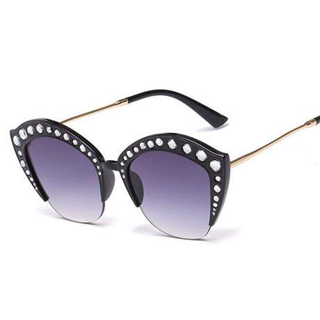 Sol Moda de Tamaño Gafas Gafas de de Gran Acetato Sol de Transparente Black Gran Calidad Alta de Marco Tamaño Marco de Gran Óptico Negro Plata Mujer GGSSYY pCqd7Iwp