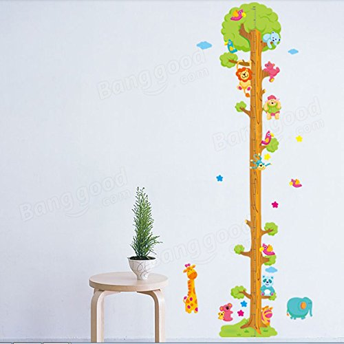 Pink Lizard Removerable PVC Animal Height Wall Sticker Cartoon Height Sticker by Pink Lizard Products (Image #1)