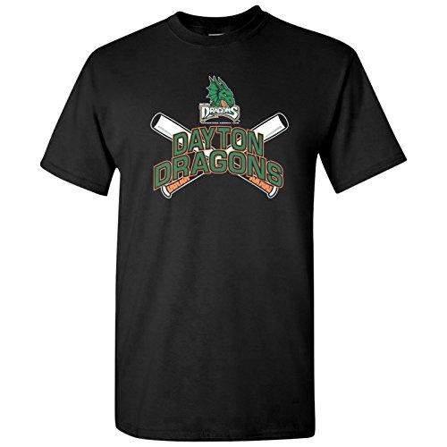Dayton Dragons Minor League Baseball - Team Pride, MiLB Graphic T Shirt - Large - Black
