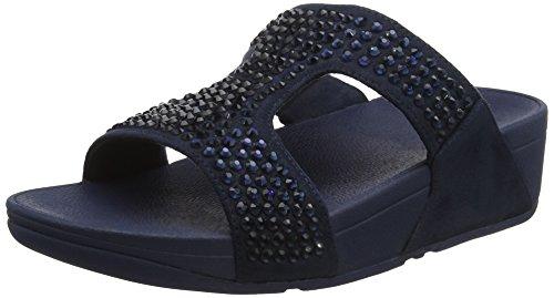 Donna Blu Glitzie Midnight 399 Fitflop Aperta Sandali Slide Sandals Navy Punta 1S0w7YUq