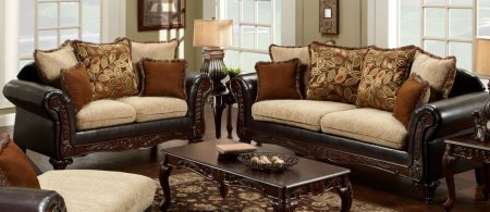 Havana Living Room Set (Chelsea Home Furniture 724300-SL Trixie Two Piece Living Room Set: Sofa and Love Seat with Fabric Upholstery in Radar)