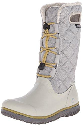 Snow Women's Tall Bogs Light Gray Lace Boot Juno Winter pgBnxnXFqw
