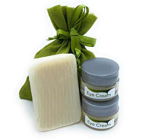 B JANECKA Eye Cream and Face Soap Gift Set, Artisan Crafted Skin Care, 100% Natural Ingredients