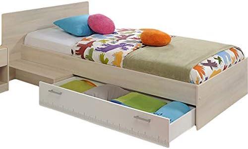 Bett Einzelbett mit Bettkasten Jugendzimmer Kinderzimmer Thal 90x200 cm