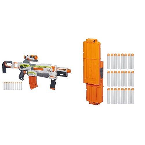 Nerf-N-Strike-Modulus-ECS-10-Blaster-and-Flip-Clip-Upgrade-Kit-Standard-Packaging-Bundle