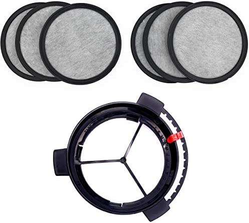 Replacement Coffee Maker Water Filtration Set Filter Disk with Frame for Mr. Coffee Brewers Coffee Maker – Water Filtration Kit 6 months supply(1Disk Frame +6Filter Disks)