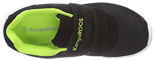KangaROOS BlueKids 2082 - zapatilla deportiva de material sintético niños negro - Schwarz (black/lime 580)