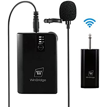 fifine wireless microphone for pc mac lavalier clip on unidirectional condenser. Black Bedroom Furniture Sets. Home Design Ideas