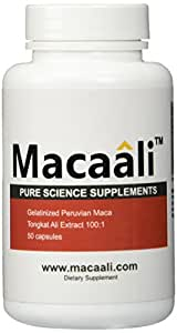 Pure Science Macaali - Maca with Tongkat Ali Extract - All Natural Male Enhancement Formula combining Maca Root Powder and Tongkat Ali Extract - 50 Capsules